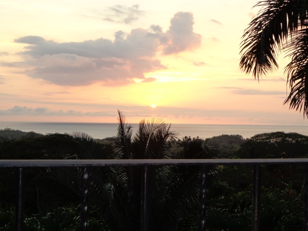Sunset from our the balcony